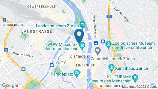 St Gotthard Hotel Map