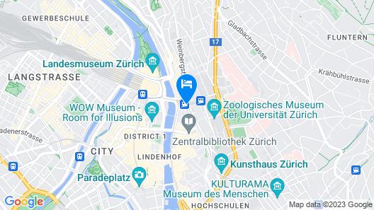 Hotel du Theatre by Fassbind Map