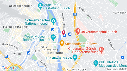 Hotel Limmathof Map
