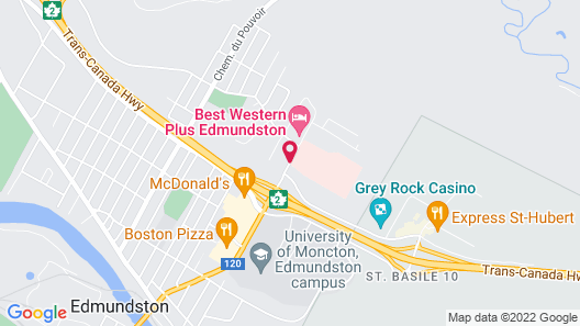 Best Western Plus Edmundston Hotel Map