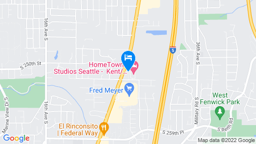 HomeTowne Studios by Red Roof Seattle - Kent/Des Moines Map