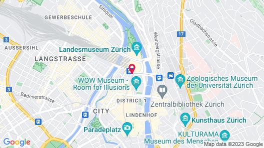 Hotel Schweizerhof Zürich Map