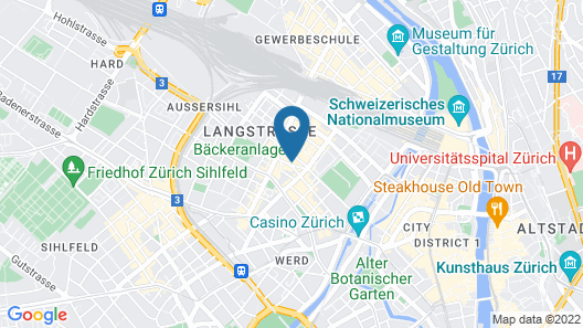 Trip Inn Zurich Hotel Map