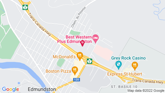 Comfort Inn Edmundston Map