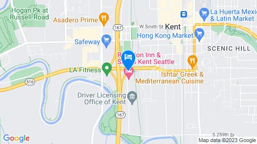 Red Lion Inn & Suites Kent Seattle Map