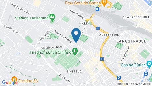 Hard Hostel Zürich Map