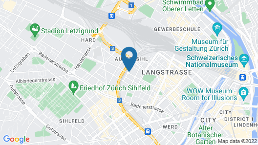 Greulich Design & Lifestyle Hotel Map