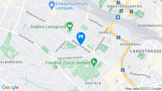 Boutique Apartment Stadium Letzigrund Map
