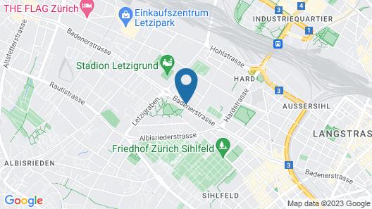 Crowne Plaza Zürich Map