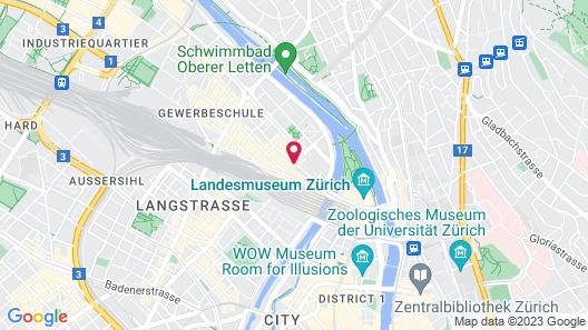 Hotel Montana Zürich Map