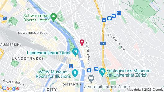 ibis Styles Zurich City Center (Opening Oct 2021) Map