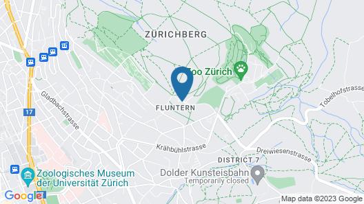 Sorell Hotel Zürichberg Map