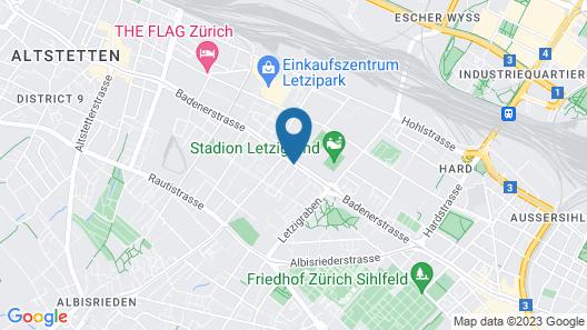 H+ Hotel Zürich Map