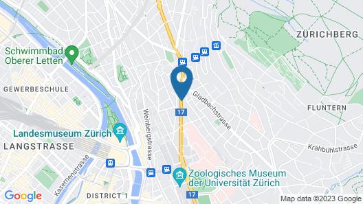 Apartments Swiss Star University Map