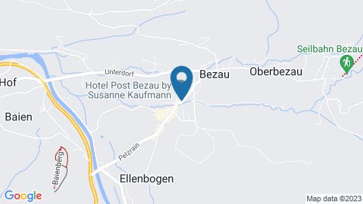 Hotel Post Bezau & Susanne Kaufmann Spa Map