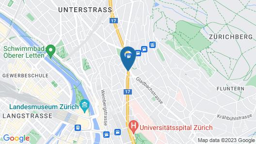 Leonardo Boutique Hotel Rigihof Zurich Map
