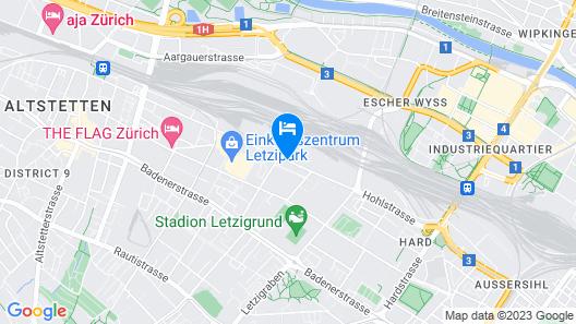 Letzigrund Apartments Map
