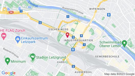 Renaissance Zürich Tower Hotel Map