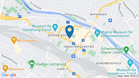 ibis budget Zurich City West Map