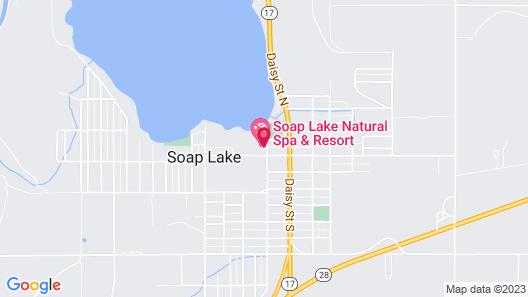 Soap Lake Natural Spa and Resort Map