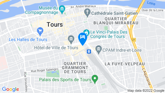 Le Grand Hotel Tours Map