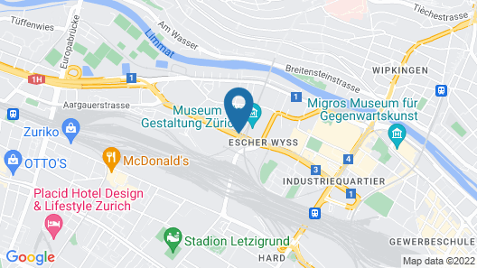 Sheraton Zurich Hotel Map