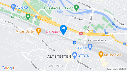 aja Zuerich Map