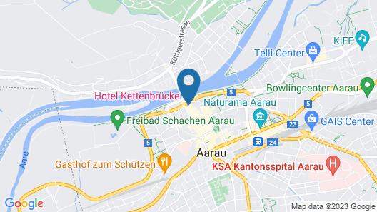 Hotel Kettenbrücke Map
