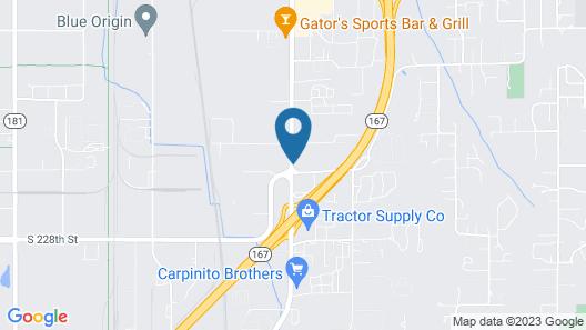 Ramada by Wyndham Kent Seattle Area Map