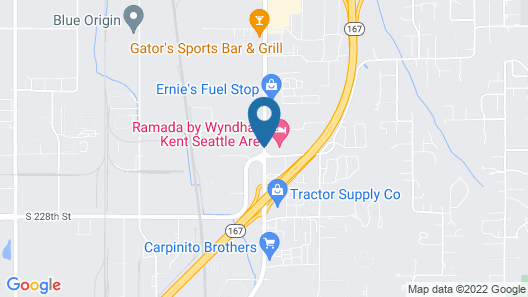 Comfort Inn Kent - Seattle Map