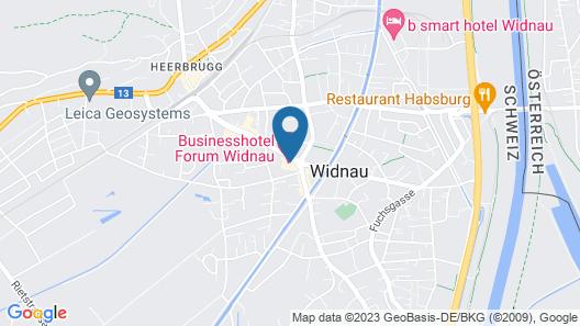 Hotel Forum Widnau Map