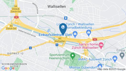 B&B Hotel Zürich East Wallisellen Map