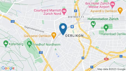 Swiss Star Zurich Oerlikon Map
