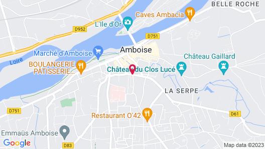 Le Clos d'Amboise Map