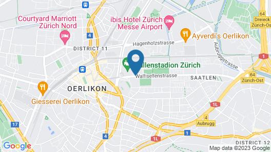 Holiday Inn Zurich - Messe Map