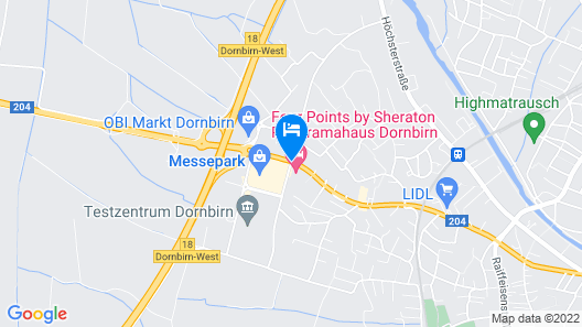 Four Points By Sheraton Panoramahaus Dornbirn Map