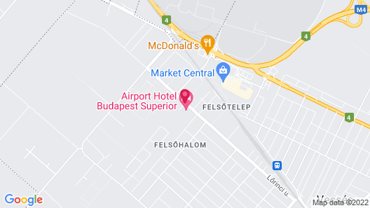 Airport Hotel Budapest Map