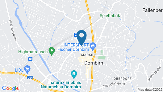 Harry's Home Hotel Dornbirn Map