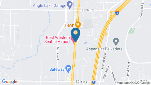 Best Western Seattle Airport Hotel Map