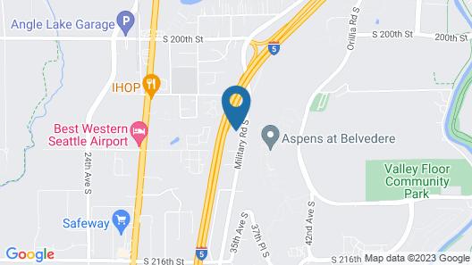 Motel 6 Seattle, WA - South Map