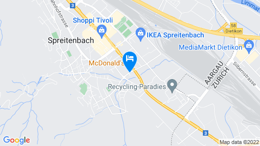 Hotel Arte Spreitenbach Map