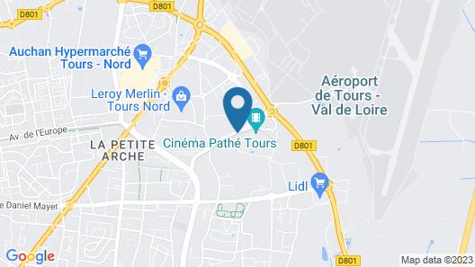 Campanile Tours Nord - Forum Melies Map