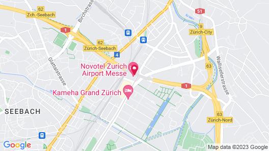 Novotel Zurich Airport Messe Map