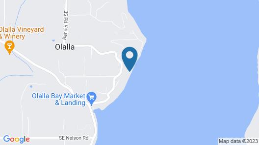 Million Dollar Beachfront Home - 5 Bedrooms- 5 Bath- Sleeps 12 Gig Harbor Area  Map