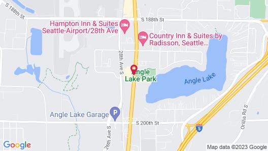 Hampton Inn Seattle/Airport Map