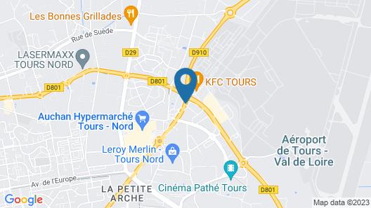 B&B Hotel Tours Nord 2 La Petite Arche Map