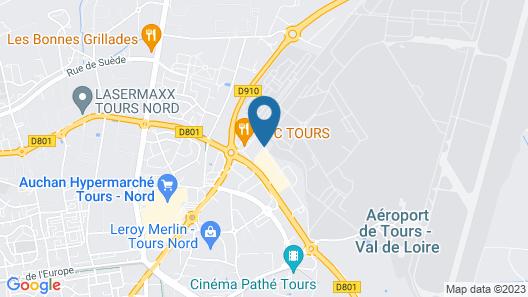 Hôtel Quick Palace Tours Map