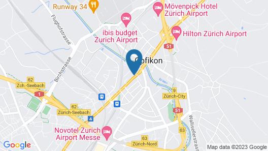 DORMERO Hotel Zürich Airport Map