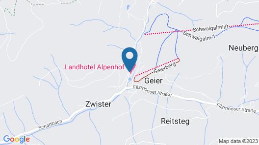Landhotel Alpenhof Map