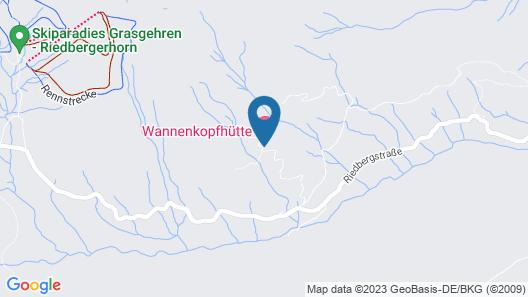 Wannenkopfhütte Map